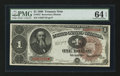 Large Size:Treasury Notes, Fr. 347 $1 1890 Treasury Note PMG Choice Uncirculated 64 EPQ.. ...
