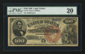 Large Size:Legal Tender Notes, Fr. 172 $100 1880 Legal Tender PMG Very Fine 20.. ...