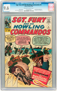 Sgt. Fury and His Howling Commandos #3 (Marvel, 1963) CGC NM+ 9.6 Off-white to white pages