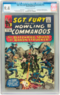Silver Age (1956-1969):War, Sgt. Fury and His Howling Commandos #14 (Marvel, 1965) CGC NM 9.4 Off-white to white pages....