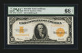 Large Size:Gold Certificates, Fr. 1173 $10 1922 Gold Certificate PMG Gem Uncirculated 66 EPQ.....