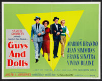 """Guys and Dolls (MGM, 1955). Half Sheet (22"""" X 28"""") Style B. Musical"""