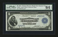 Fr. 800 $5 1915 Federal Reserve Bank Note PMG Choice Uncirculated 64 EPQ