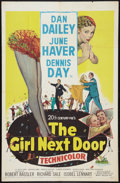"Movie Posters:Comedy, The Girl Next Door (20th Century Fox, 1953). One Sheet (27"" X 41""). Comedy.. ..."