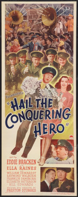"""Hail the Conquering Hero (Paramount, 1944). Insert (14"""" X 36""""). Comedy"""