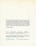 Baseball Collectibles:Others, 1954 Walt Alston Signed Endorsement Contract....