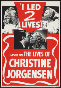 "Glen or Glenda (I Led Two Lives) (Screen Classics Inc., 1953). One Sheet (28"" X 41""). Exploitation"