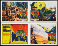 "Mothra (Columbia, 1962). Title Lobby Card & Lobby Cards (3) (11"" X 14""). Science Fiction. ... (Total: 4 It..."