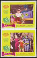 "Movie Posters:Action, Batman (20th Century Fox, 1966). Lobby Cards (2) (11"" X 14"").Action.. ... (Total: 2 Items)"