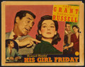"Movie Posters:Comedy, His Girl Friday (Columbia, 1940). Lobby Card (11"" X 14""). Comedy.. ..."