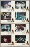 """Movie Posters:Science Fiction, A Clockwork Orange (Warner Brothers, 1971) Lobby Card Set of 8 (11"""" X 14"""") R-Rated Version. Science Fiction.. ... (Total: 8 Items)"""