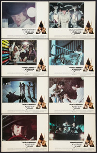 "A Clockwork Orange (Warner Brothers, 1971) Lobby Card Set of 8 (11"" X 14"") R-Rated Version. Science Fiction..."