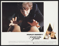 "A Clockwork Orange (Warner Brothers, 1971). Deluxe Lobby Card (11"" X 14"") X-Rated Version. Science Fiction..."