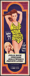 "Movie Posters:Comedy, Movie Star, American Style or; LSD, I Hate You (Famous Players Corp., 1966). Insert (14"" X 36""). Comedy.. ..."