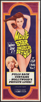 "Movie Star, American Style or; LSD, I Hate You (Famous Players Corp., 1966). Insert (14"" X 36""). Exploitation..."