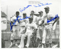 Baseball Collectibles:Photos, Dodgers Legends Multi Signed Photograph....