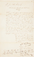 "Autographs:Military Figures, Thomas Jefferson Green Military Appointment Twice Signed ""Thos.J. Green"" as ""Brigadier General of the Army of Texas..."