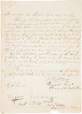 "Autographs:Military Figures, Thomas Jefferson Green Military Appointment Thrice Signed, twice as ""Th: Jef: Green"" and once as ""Thos. P. Green..."