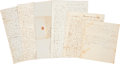 Autographs:Military Figures, John H. Milroy Family Archive, containing four letters and two court documents, all dated between 1838 and 1852. Several of ... (Total: 6 Items)