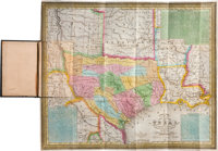 Samuel Augustus Mitchell: A New Map of Texas with the Contiguous American and Mexican States, 1837