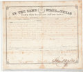 "Autographs:Statesmen, Sam Houston Land Grant Signed as governor of Texas. Onepartially-printed page, 14.75"" x 12.5"", Austin, January 12, 1860,gr..."