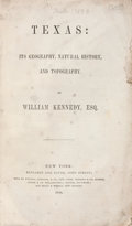 Books:Non-fiction, William Kennedy. Texas: Its Geography, Natural History, and Topography....