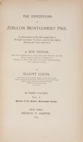 Books:First Editions, Elliott Coues. The Expeditions of Zebulon Montgomery Pike, ToHeadwaters of the Mississippi River, Through Louisiana Ter...(Total: 3 Items)