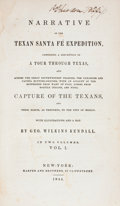 Books:First Editions, George Wilkins Kendall: Narrative of the Texan Santa FéExpedition,... (Total: 2 Items)