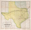 Miscellaneous:Maps, [Railroads in Texas]. The Texas Pacific Railway. The Shortest Line to the Great Cotton Grain and Stock Regions of Texas...