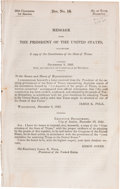 Books:Pamphlets & Tracts, [James Polk - Texas Constitution]. Message From the President ofthe United States Transmitting a copy of the Constituti...