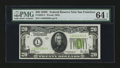 Small Size:Federal Reserve Notes, Fr. 2053-L $20 1928C Federal Reserve Note. PMG Choice Uncirculated 64 EPQ.. ...