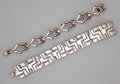 Silver Smalls:Other , TWO MEXICAN SILVER BRACELETS . Unidentified maker, Taxco, Mexico,circa 1960. Marks: MMA, HECHO EN MEXICO, STERLING 925 TA...(Total: 2 Items)