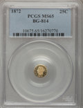 California Fractional Gold, 1872 25C Liberty Round 25 Cents, BG-814, High R.5, MS65 PCGS....