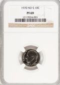 Proof Roosevelt Dimes, 1970 10C No S PR69 NGC....