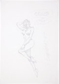 Original Comic Art:Sketches, Ty Templeton Dot (The New Wave) Sketch Original Art (1987)....