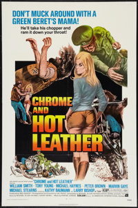 "Chrome and Hot Leather (American International, 1971). One Sheet (27"" X 41""). Exploitation"