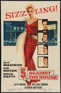 """5 Against the House (Columbia, 1955). One Sheet (27"""" X 41""""). Film Noir"""