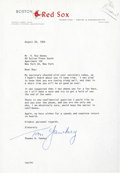 Baseball Collectibles:Others, 1962 Tom Yawkey Signed Letter....