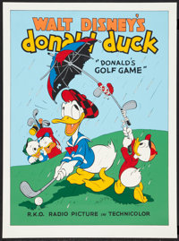 "Donald's Golf Game (Circle Fine Art, 1980s). Fine Art Serigraph (22.75"" X 30.5""). Animated"