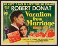 """Movie Posters:Drama, Vacation from Marriage (MGM, 1945). Half Sheet (22"""" X 28"""") Style A. Drama.. ..."""