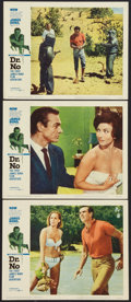 "Movie Posters:James Bond, Dr. No (United Artists, 1962). Lobby Cards (3) (11"" X 14""). James Bond.. ... (Total: 3 Items)"