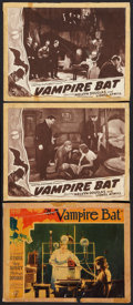 """Movie Posters:Horror, The Vampire Bat (Majestic, 1933, & Capital, R-Late 1930s). Lobby Cards (3) (11"""" X 14""""). Horror.. ... (Total: 3 Items)"""