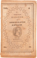 Books:Pamphlets & Tracts, United States Magazine and Democratic Review. Volume 6, Number 19. Washington, D.C., July 1839. 8vo. 176pp. Includes a h...