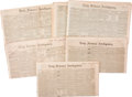 Miscellaneous:Newspaper, Group of Washington Newspapers with Articles on Texas. Six DailyNational Intelligencer newspapers and one New York Ti...(Total: 7 Items)