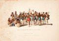 "Antiques:Posters & Prints, McKenney & Hall. ""War Dance of the Sauks and Foxes"" Hand-Colored Lithograph, 1834...."