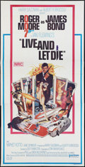 "Movie Posters:James Bond, Live and Let Die (United Artists, 1973). Australian Three Sheet (40"" X 81""). James Bond.. ..."