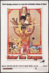 """Enter the Dragon (Warner Brothers, 1973). Poster (40"""" X 60""""). Action"""