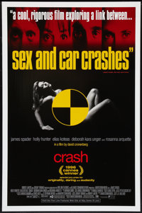 """Crash (Fine Line Features, 1996). One Sheet & Canadian One Sheet (27"""" X 41"""") DS. Thriller. ... (Total: 2 I..."""