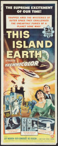 "Movie Posters:Science Fiction, This Island Earth (Universal International, 1955). Insert (14"" X36""). Science Fiction.. ..."