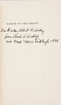 Books:Signed Editions, Anne Morrow Lindbergh. North to the Orient. With Maps by Charles A. Lindbergh. New York: Harcourt, Brace and Company...